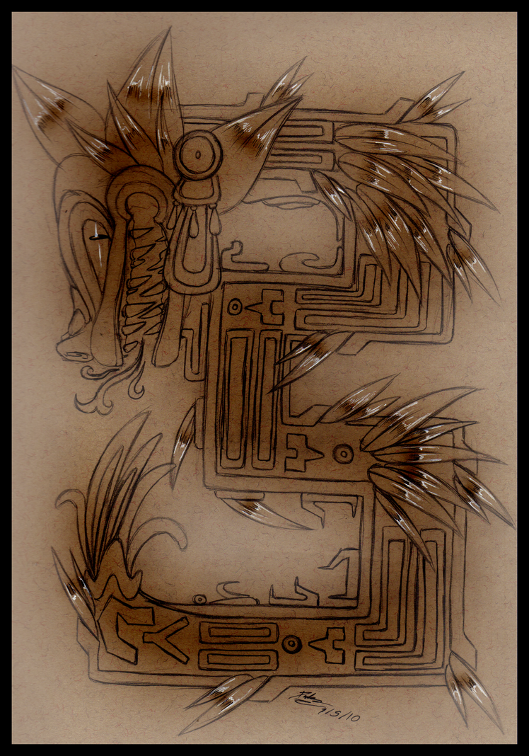 quetzalcoatl aztec drawing - photo #13