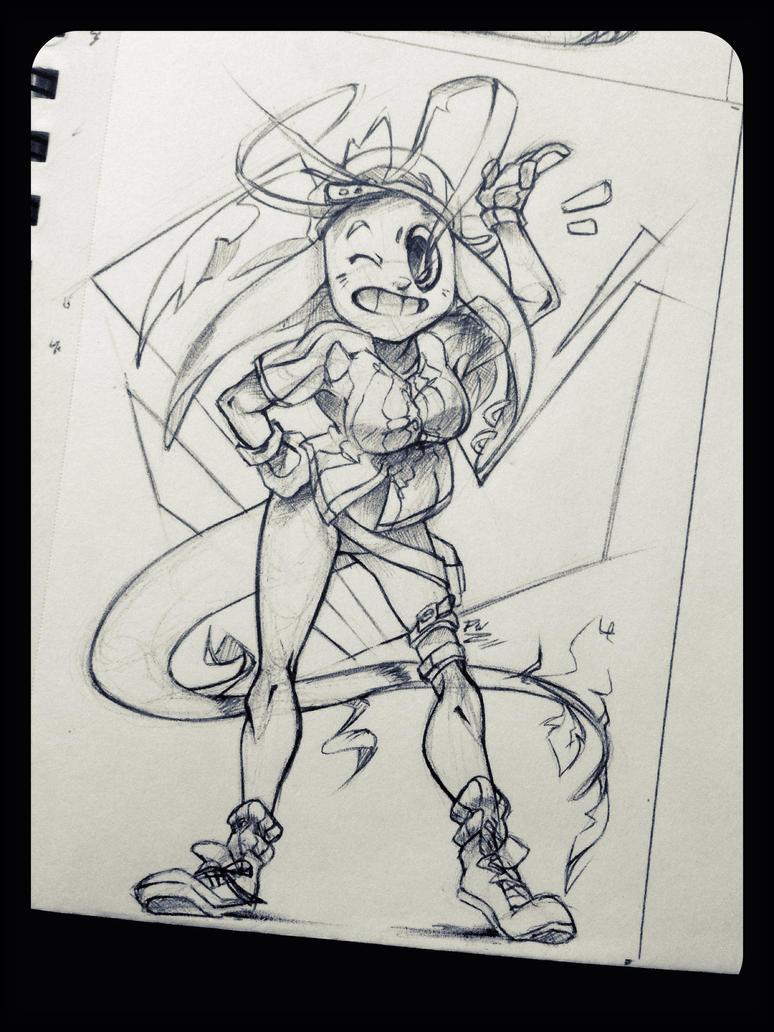 Pen Sketch: Bealix by DroseAttack