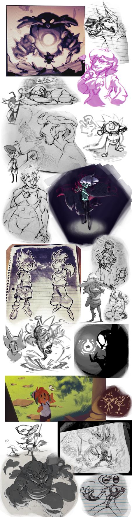 Mega Sketch Dump 2 by DroseAttack