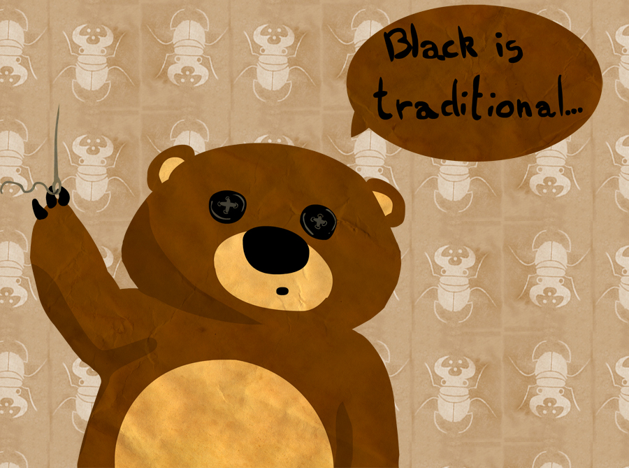 Black is traditional by Tisseur-de-reves