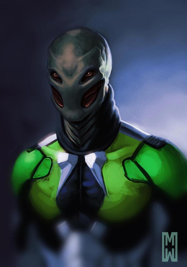 Alien speedpaint by Marrilliams