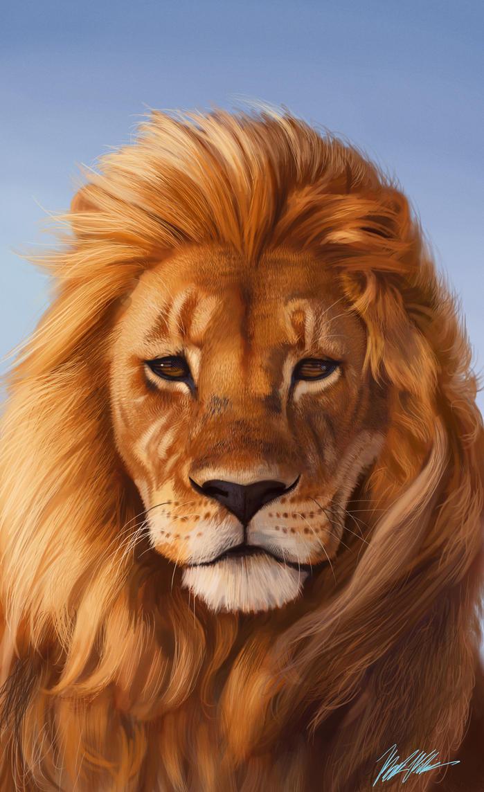 Lion Book cover by SchneeKatze09