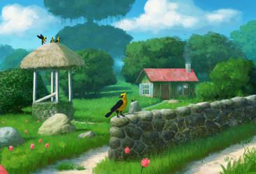 Everywhere but the birdhouse by SchneeKatze09