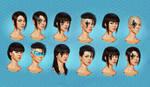 Sci Fi female head concepts