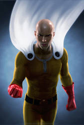 Saitama One Punch Man by SchneeKatze09