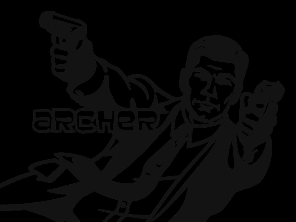 Sterling Archer plain white stencil by heinpold