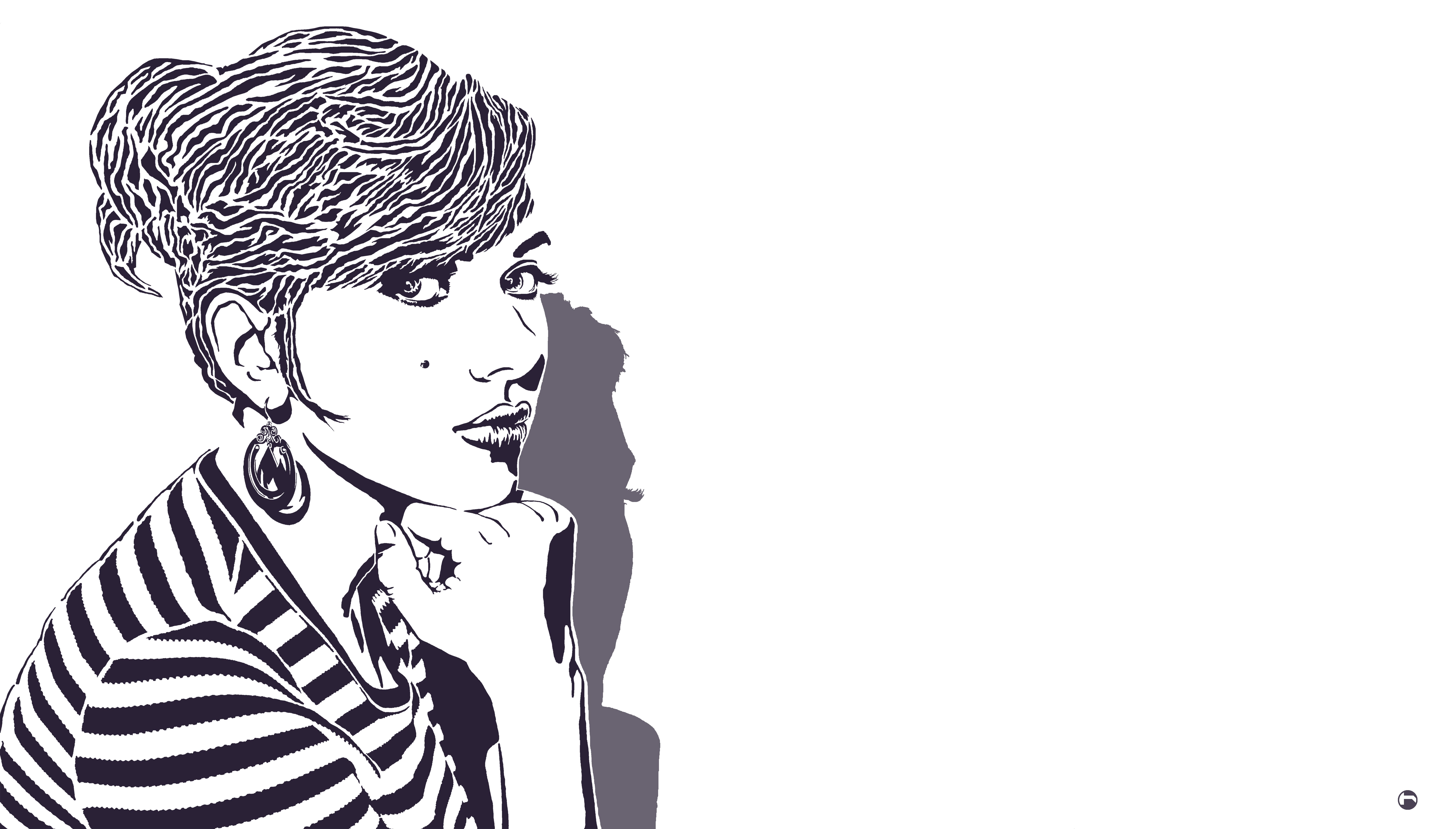 Scarlett Johansson stencil by heinpold