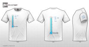 dA Logo T-shirt by XMarwanX