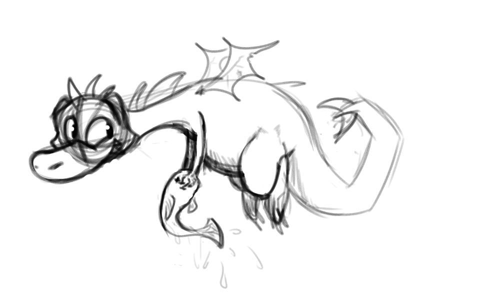 adoptable dragon sketch by Shibka