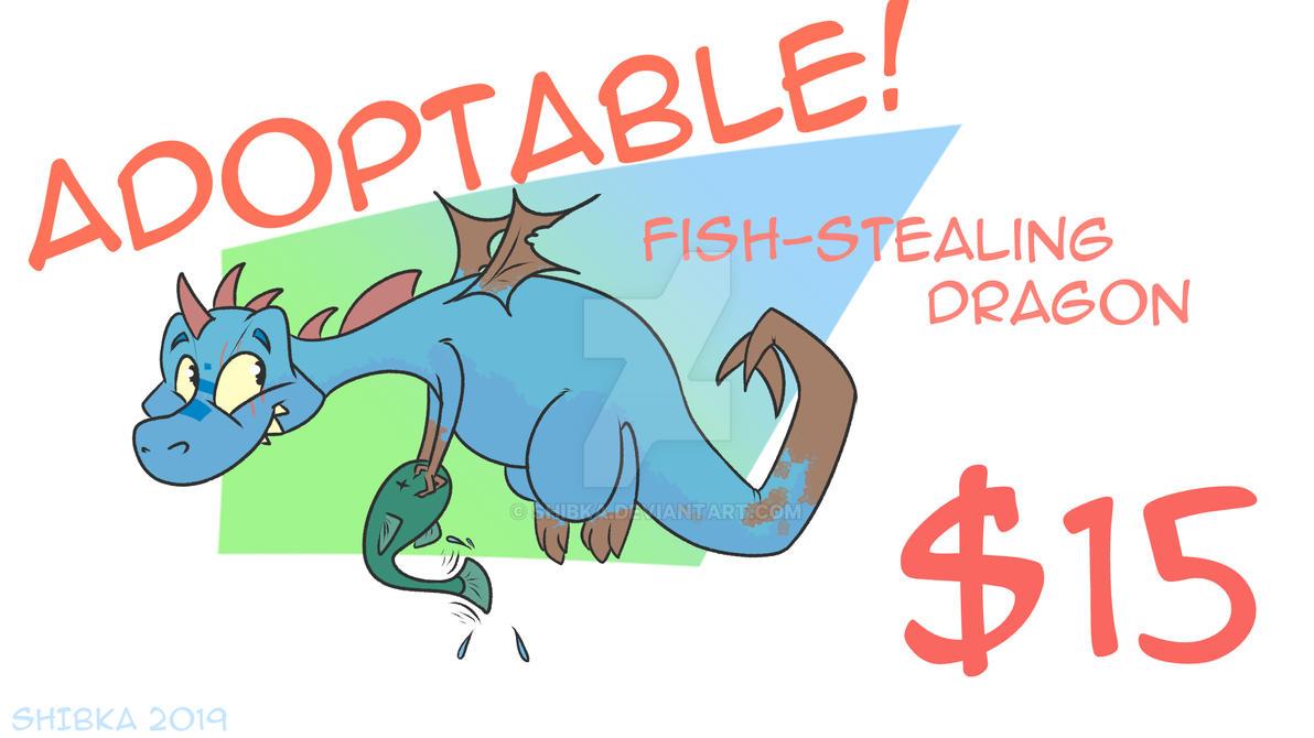 fish-stealing dragon adoptable! [OPEN] by Shibka