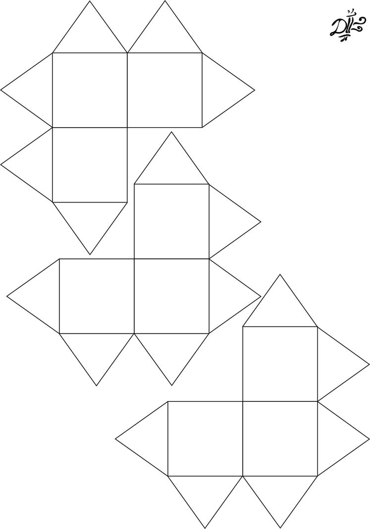 Cube Pattern Template Cake Ideas And Designs