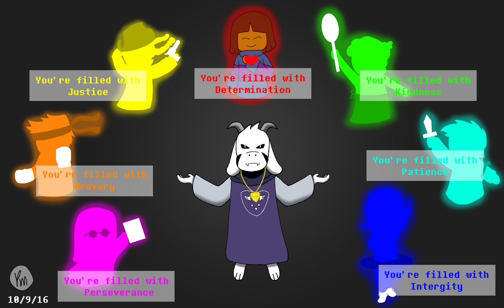 Asriel Dreeemurr and the lost souls by AbandonedGalaxy on DeviantArt