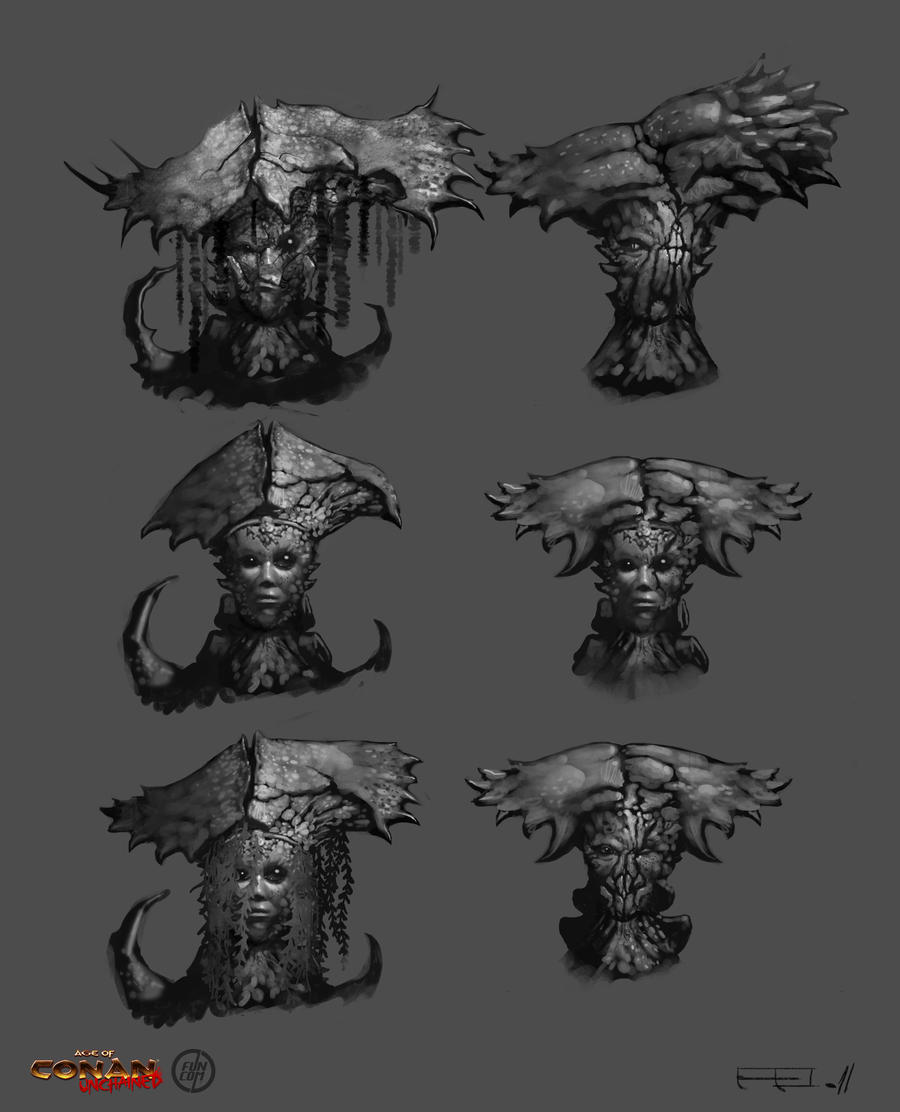 Crab Witch Head Concepts by Benef