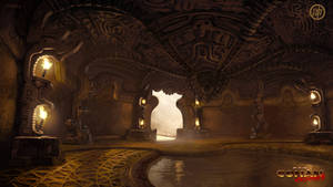 Serpent Men City Boss Room by Benef