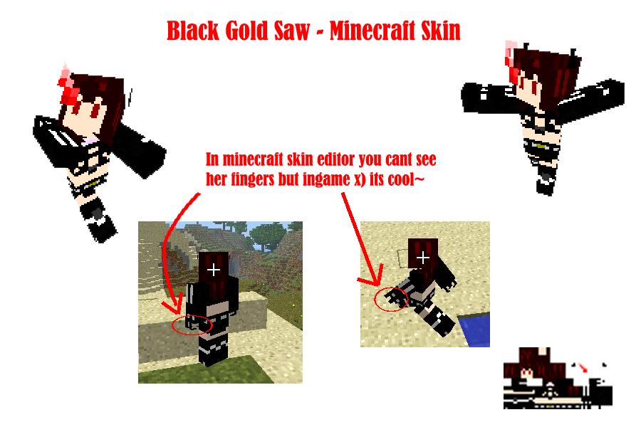 Black Gold Saw -Minecraft skin by T1A60 on DeviantArt