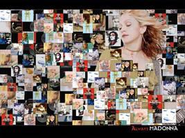 Madonna Collage by scrawnyfella
