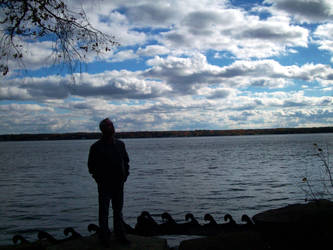 Dave on The St Lawrence River by scrawnyfella