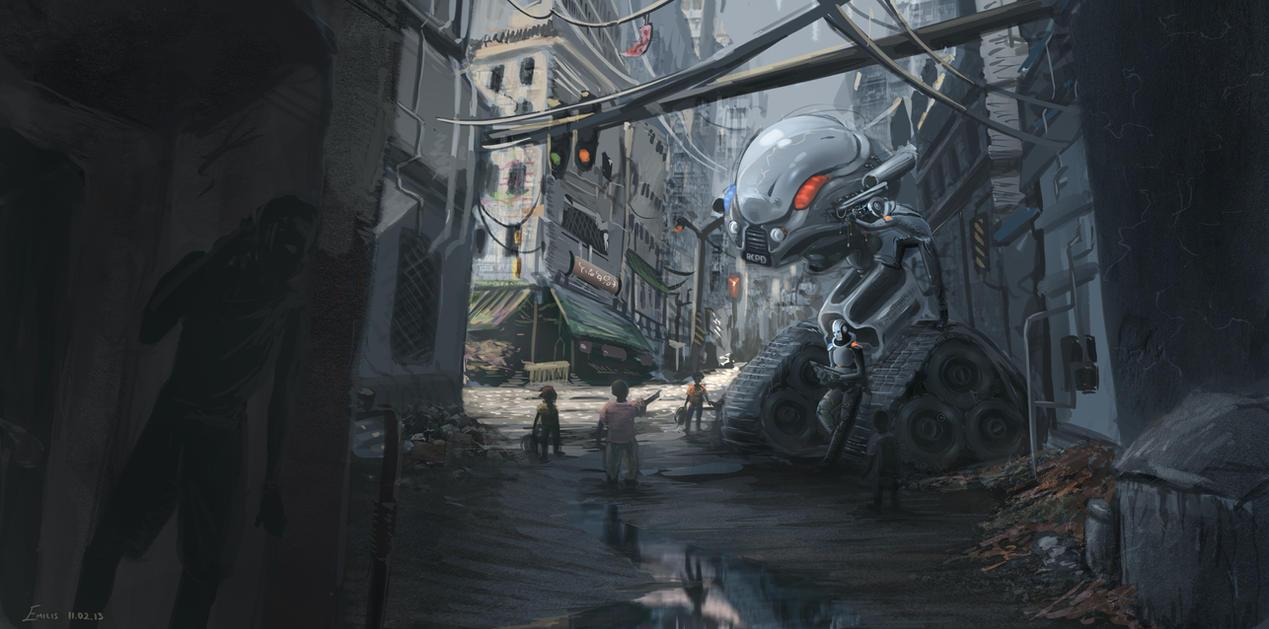 CyberSlum Speedpaint by EmilisB