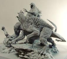 GODZILLA vs VARAN BARAGON ANGUIRUS unmade GMK 2 by Masazumi-Matsumoto
