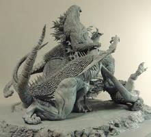 GODZILLA vs VARAN BARAGON ANGUIRUS unmade GMK 3 by Masazumi-Matsumoto