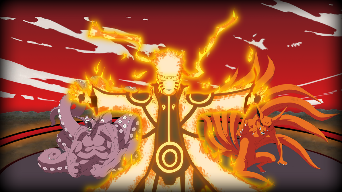 naruto nine tails form wallpaper