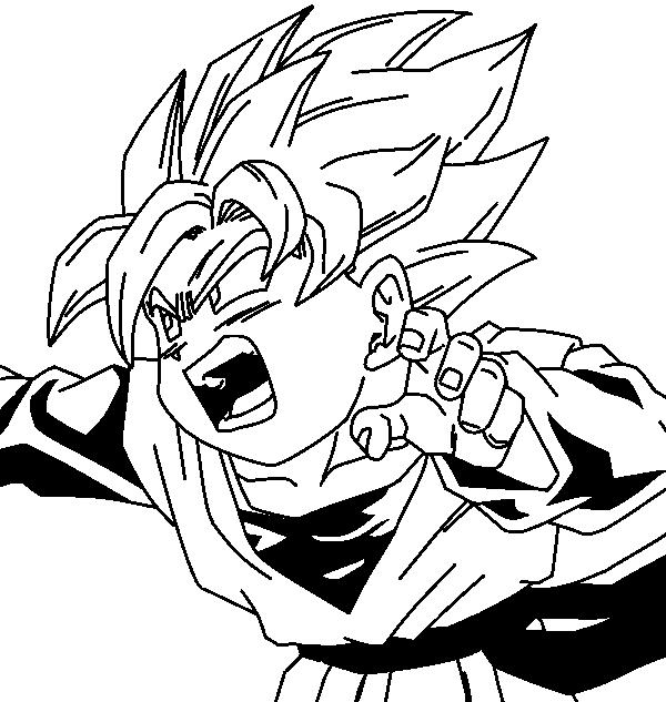 Goten Super Saiyan No Colors By Dragonvegito On Deviantart