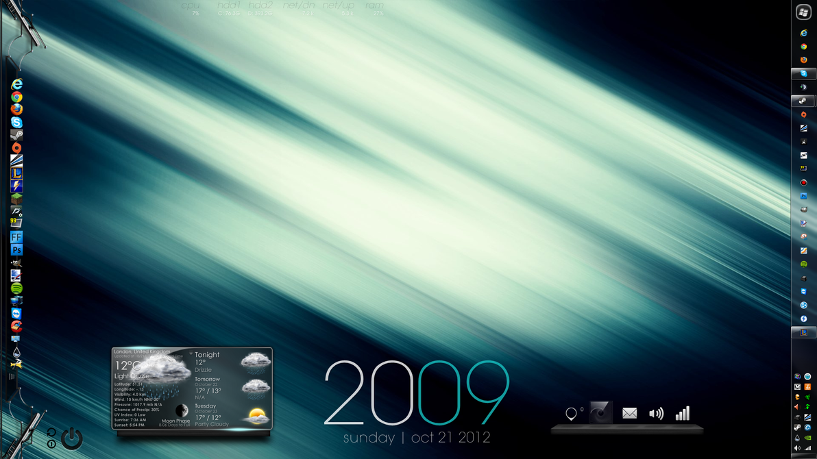 Desktop October 2012 by TheoDesigns
