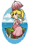 Wind Waker Peach at sea
