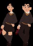 Disney in Hogwarts Mulan / Ping Gryffindor