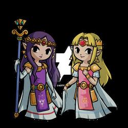 Hilda and Zelda Wind Waker: A Link Between Worlds
