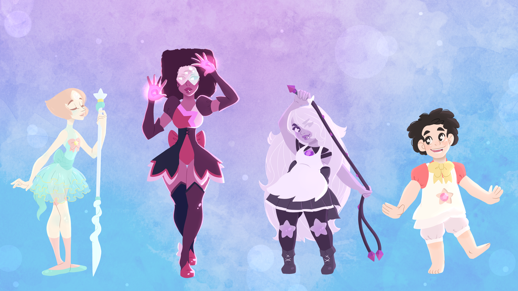 Steven and the Crystal Magical Girls by Decapitated-Kittens