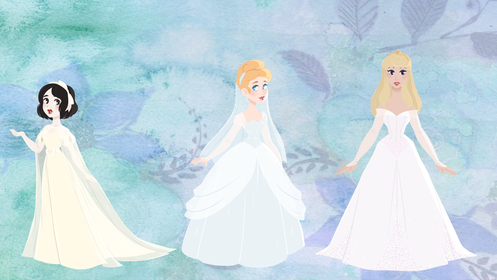 Disney Wedding Gowns: Classic Princesses by Decapitated-Kittens on ...