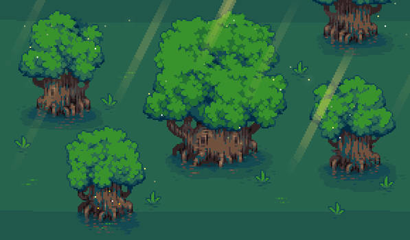 Trees drawing practice