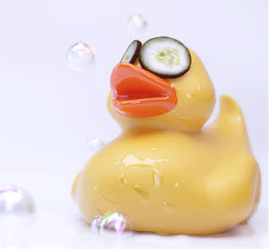 Rubber Duck in a spa