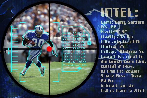 Barry Sanders Wallpaper By Tonysteeleebw