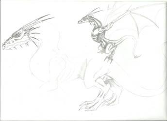 Dragons draw by deniswolf