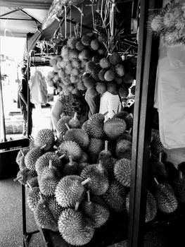 Durian stall.