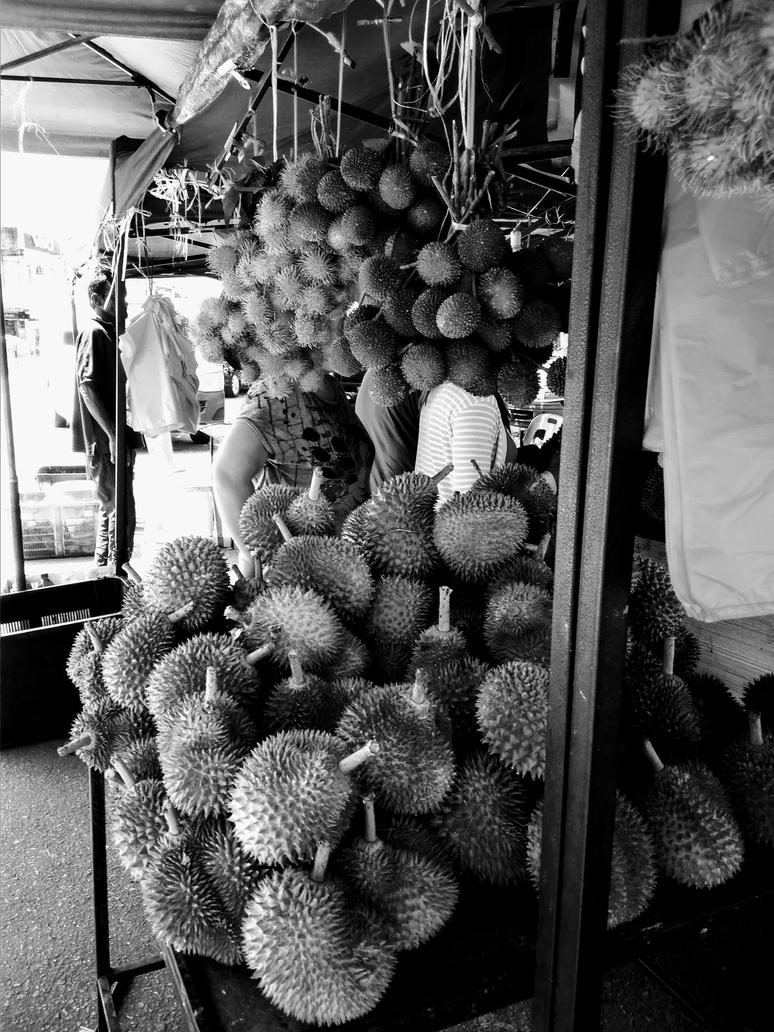 Durian stall. by Talk3talk4