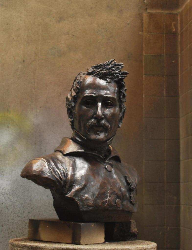 Busto AGUSTIN CODAZZI. Bronce. by plazas