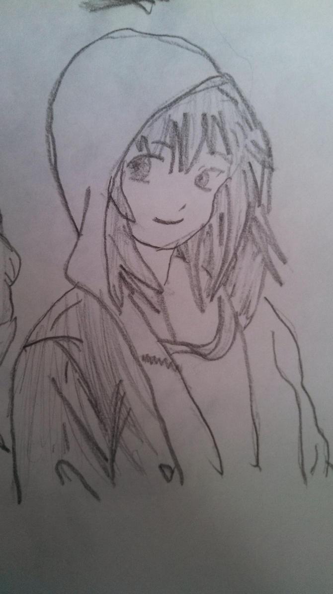 Anime girl in hoodie by jkhorse72809 on deviantart