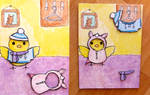 Magnetic aceo card: Dress-Up Game by Mellymiew