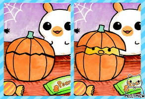 Crafted Halloween Aceo Card by Mellymiew