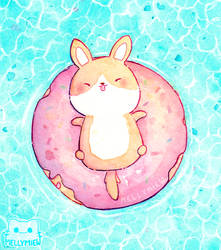 Floating Donut by Mellymiew