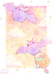 Chubby Bats by Mellymiew