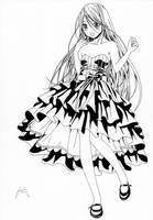 Moka Akashiya from Rosario+Vampire (child version) by Marvinhet
