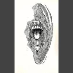 The scream by Ronaxenamu