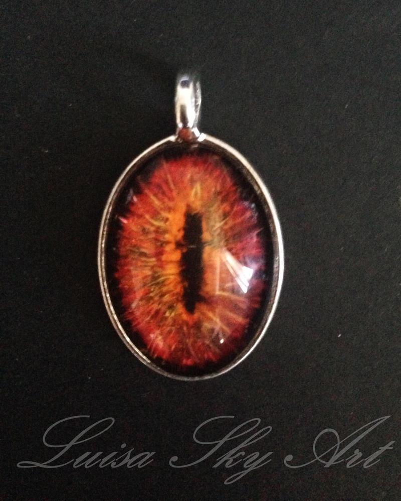 Handgemachter Schmuck: Dragon Eye oval by LuisaSky