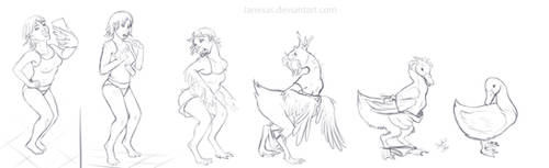 Duck TF 6 stage Sketch Sequence .: Commission :.