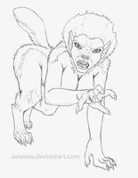 Werewolf - Spacix Patreon Sketch 2-13-17 by Janexas