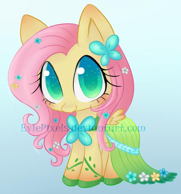 Gala Fluttershy Chibi by BunniniArt